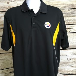 Pittsburgh Steelers Large NFL Team Apparel Polo R5